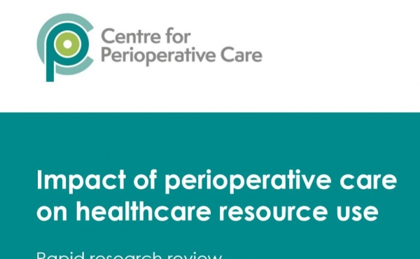 Impact of Perioperative Care on Healthcare resource use document front page