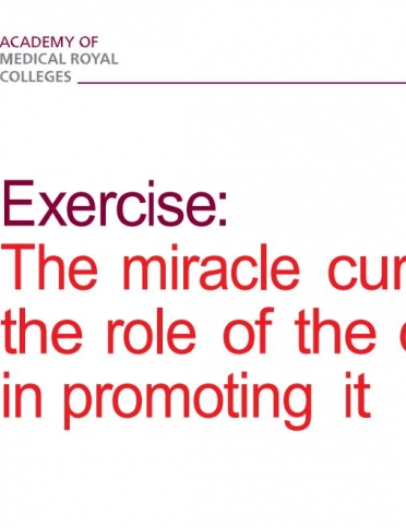 Exercise the miracle cure front page